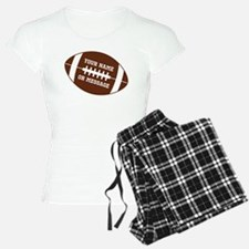 YOUR NAME Football Pajamas