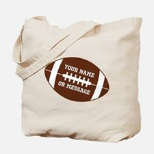 YOUR NAME Football Tote Bag