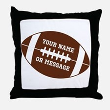 YOUR NAME Football Throw Pillow