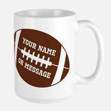 YOUR NAME Football Mugs