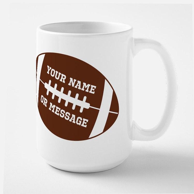 YOUR NAME Football Mugs