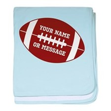 YOUR NAME Football baby blanket
