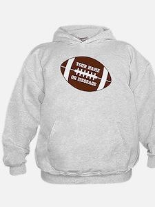 YOUR NAME Football Hoodie
