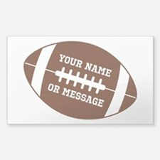 YOUR NAME Football Bumper Stickers
