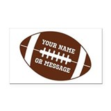 "Personalize football 3"" x 5"""