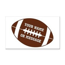 YOUR NAME Football Rectangle Car Magnet