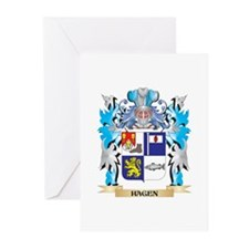 Hagen Coat of Arms - Family Crest Greeting Cards
