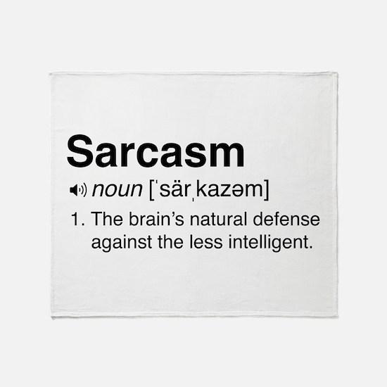 Sarcasm Definition Throw Blanket