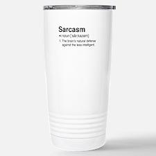 Sarcasm Definition Travel Mug