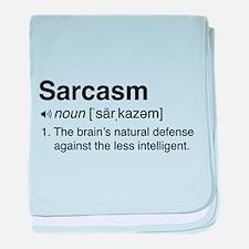 Sarcasm Definition baby blanket