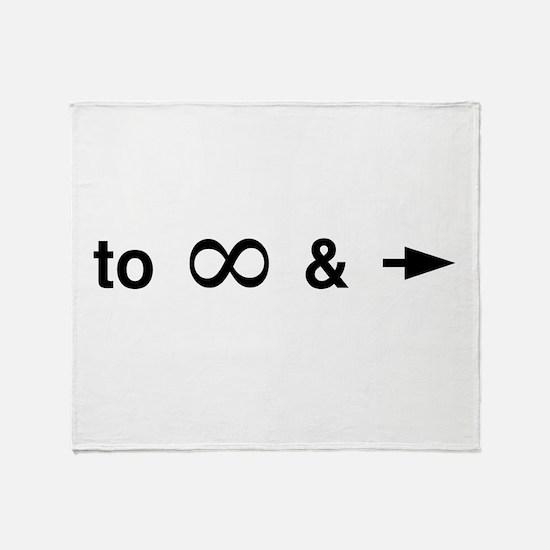 Cute Math symbol Throw Blanket