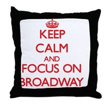 Cute Broadway musicals Throw Pillow