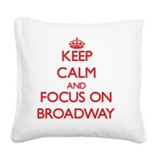 Cute Broadway musicals Square Canvas Pillow