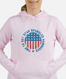 Time To Get Star Spangled Hammered Women's Hooded