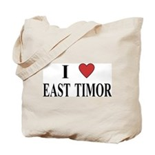 I Love East Timor Tote Bag