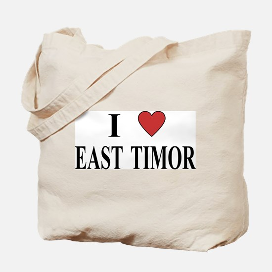 I Love East Timor Tote Bag