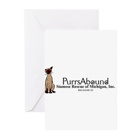 Purrs Abound Greeting Cards (Pk of 10)