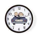 Just Married Wedding Clock