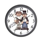 Prim Couple Wedding Clock