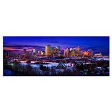 Edmonton Winter Skyline Poster