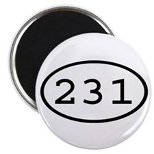 231 Oval Magnet