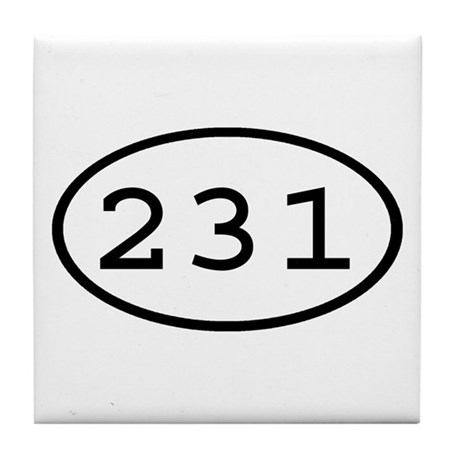 231 Oval Tile Coaster