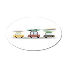 Surfer Cars Wall Decal