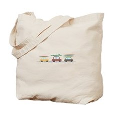 Surfer Cars Tote Bag