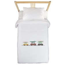 Surfer Cars Twin Duvet