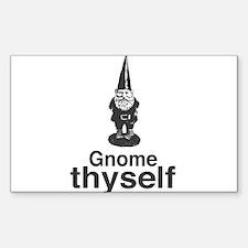 Gnome Thyself Decal