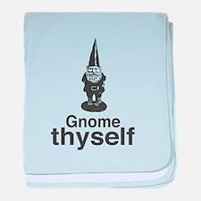 Gnome Thyself baby blanket