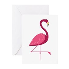 Pink Flamingo Greeting Cards