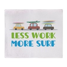 More Surf Throw Blanket