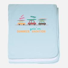 Summer Vacation baby blanket