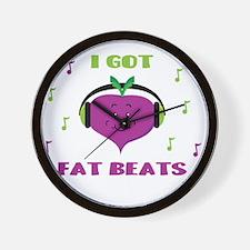Cute Funny vegan Wall Clock