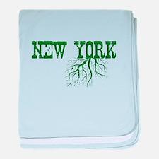 New York Roots baby blanket