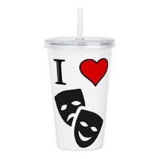 Cute Performing arts Acrylic Double-wall Tumbler