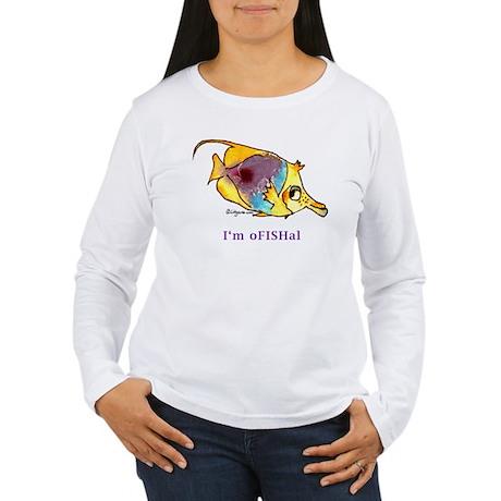 Funny cartoon fish Women's Long Sleeve T-Shirt
