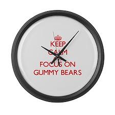 Cute Gummi bears Large Wall Clock