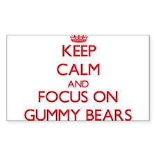 Keep Calm and focus on Gummy Bears Decal