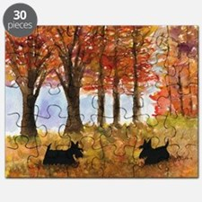 Autumn Scottie Dogs Puzzle