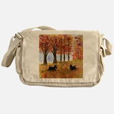 Autumn Scottie Dogs Messenger Bag