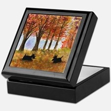Autumn Scottie Dogs Keepsake Box