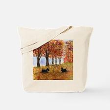 Autumn Scottie Dogs Tote Bag