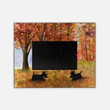 Autumn Scottie Dogs Picture Frame