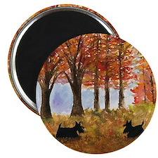 Autumn Scottie Dogs Magnet