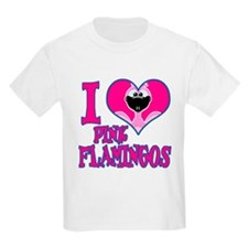 I Love (Heart) Pink Flamingos T-Shirt