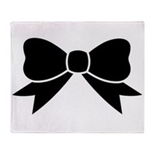 Cute Bow Throw Blanket