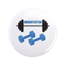 "Weight Lifter 3.5"" Button (100 pack)"