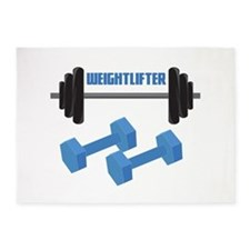 Weight Lifter 5'x7'Area Rug